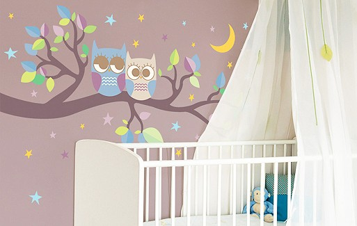 Wall Sticker - Night Owls