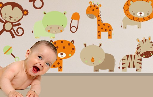 Wall Sticker - Baby Animals Set 2 (11 Pieces)
