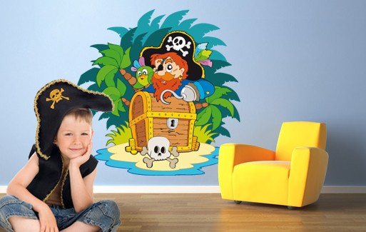 Wall Sticker The Treasure Of Captain Redbeard