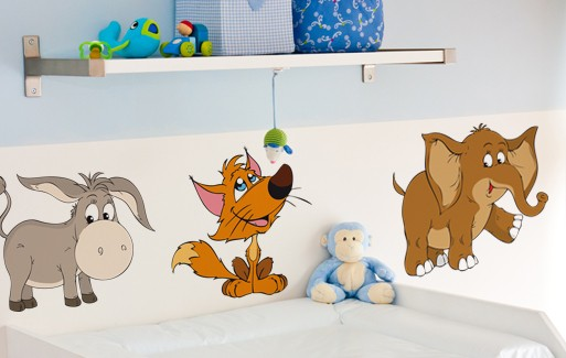 Wall Sticker Animal Trio Set (3 Pieces) _ Yes No