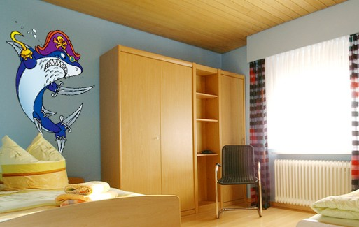Wall Sticker Shark Captain Chuck