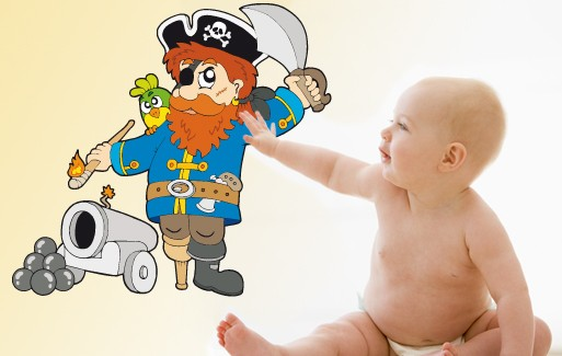 Wall Sticker Captain Red Beard