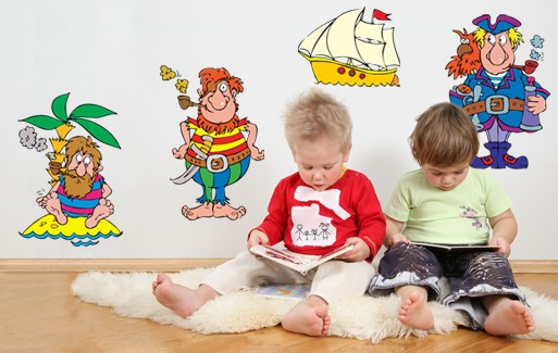 Wall Sticker Brave Sailors Set (4 Pieces)