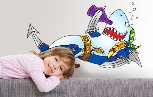Wall Sticker Shark Sailor Johnny