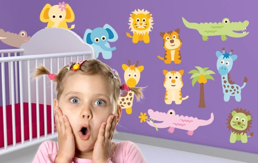 Wall Sticker - Baby Animals Set 1 (14 Pieces)