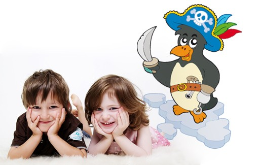 Wall Sticker Fearless Pirate Penguin