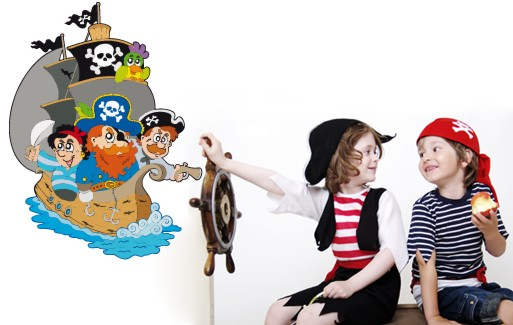 Wall Sticker Captain Redbeard And His Crew