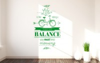 Wandtattoo Life is like riding a Bicycle to keep your balance you must keep moving - Zitate und Sprüche