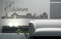 Wandtattoo Essen Skyline